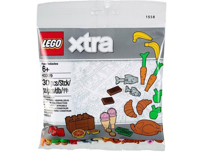 LEGO XTRA 40309 Doplňkové dílky – Jídlo