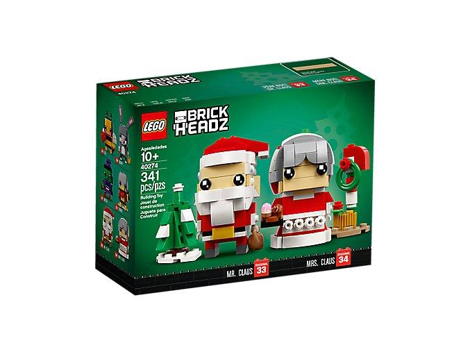 LEGO BrickHeadz 40274 Pan a paní Santa Clausovi