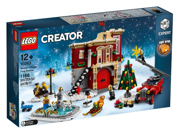 LEGO 10263 Hasičská stanice v zimní vesnici  + volná rodinná vstupenka do Muzea LEGA Tábor v hodnotě 370 Kč
