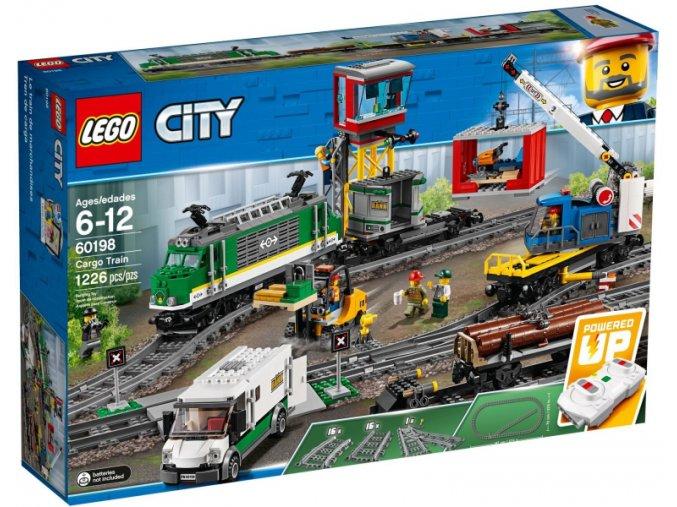 Lego CITY 60198 Nákladní vlak  + volná rodinná vstupenka do Muzea LEGA Tábor v hodnotě 370 Kč