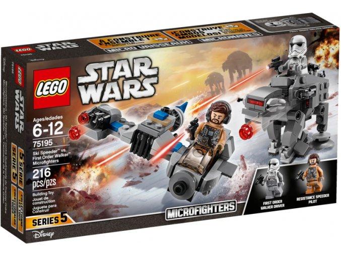 Lego Star Wars 75195 Snežný spídr™ a kráčející kolos Prvního řádu™