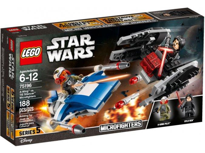 Lego Star Wars 75196 Mikrostíhačka A-Wing™ vs. Mikrostíhačka TIE Silencer™