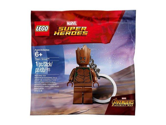 LEGO Super Heroes 5005244 Teen Groot přívěsek na klíče
