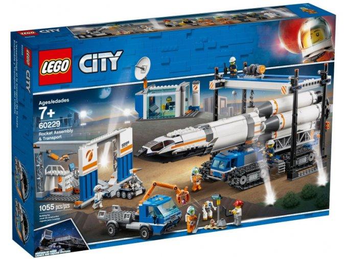 Lego CITY 60229 Montáž a přeprava vesmírné rakety  + volná rodinná vstupenka do Muzea LEGA Tábor v hodnotě 370 Kč