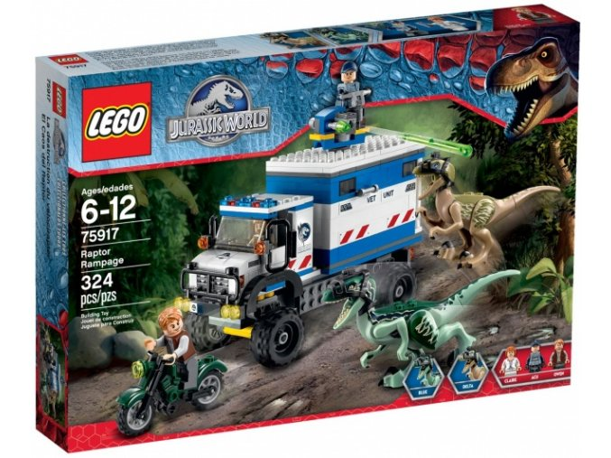 LEGO Jurassic World 75917 Běsnění Raptorů  + volná rodinná vstupenka do Muzea LEGA Tábor v hodnotě 370 Kč
