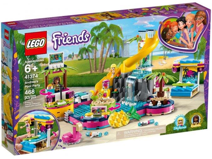 LEGO Friends 41374 Andrea a párty u bazénu