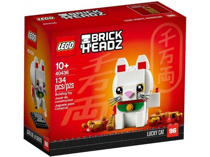 LEGO BrickHeadz 40436 Lucky Cat (Kočka pro štěstí)