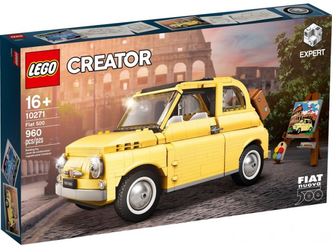 Lego 10271 Creator Fiat 500  + volná rodinná vstupenka do Muzea LEGA Tábor v hodnotě 370 Kč
