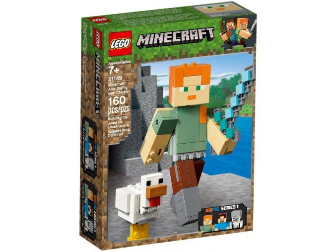 Lego Minecraft 21149 Velká figurka: Alex s kuřetem