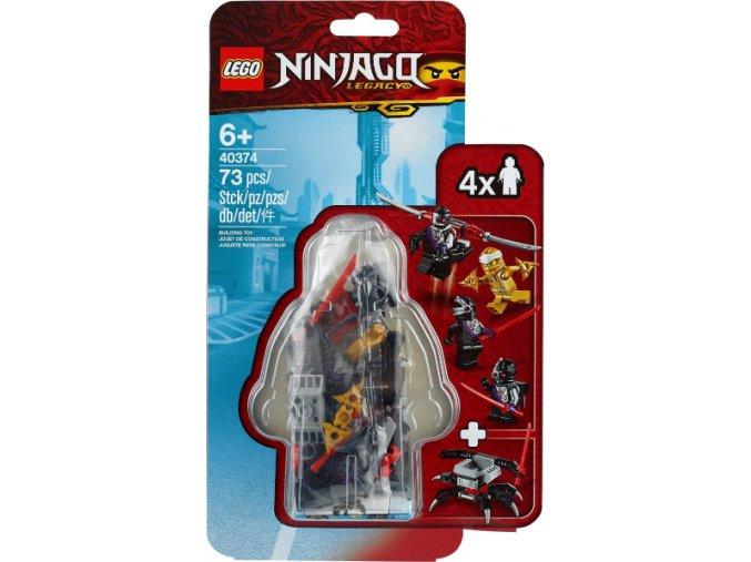 LEGO NINJAGO 40374 Sada doplňků s minifigurkami – zlatý Zane