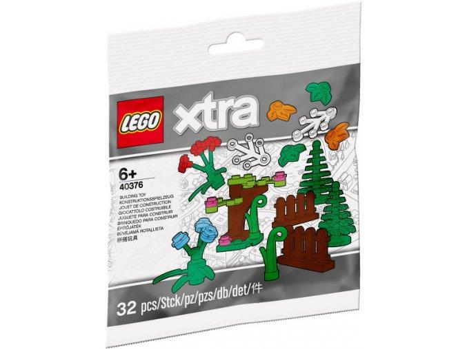 LEGO XTRA 40376 Sada doplňků – rostliny