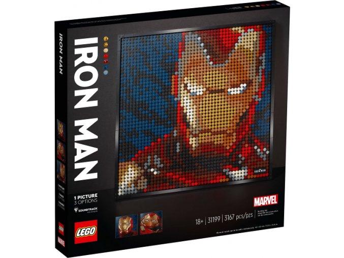 Lego Art 31199 Iron Man od Marvelu  + volná rodinná vstupenka do Muzea LEGA Tábor v hodnotě 370 Kč