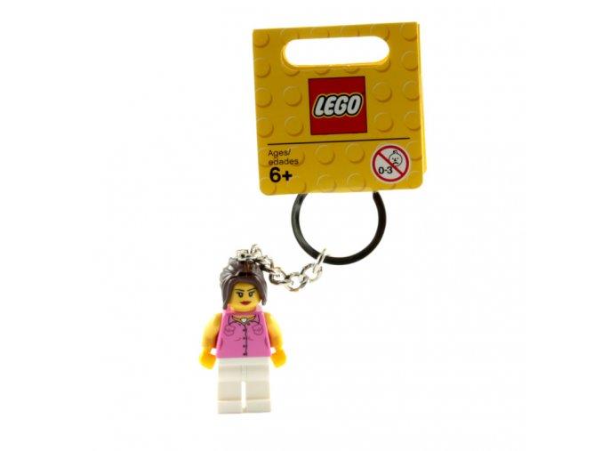 LEGO 852704 Přívěšek na klíče Dívka v růžovém