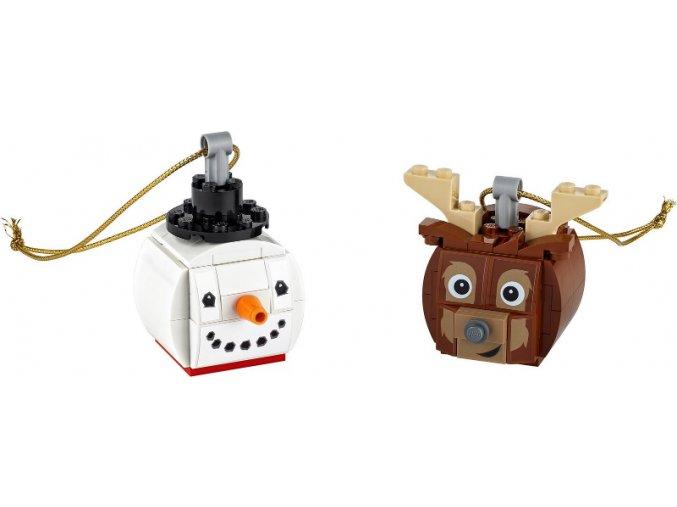 LEGO 854050 Vánoční ozdoba sněhulák a sob