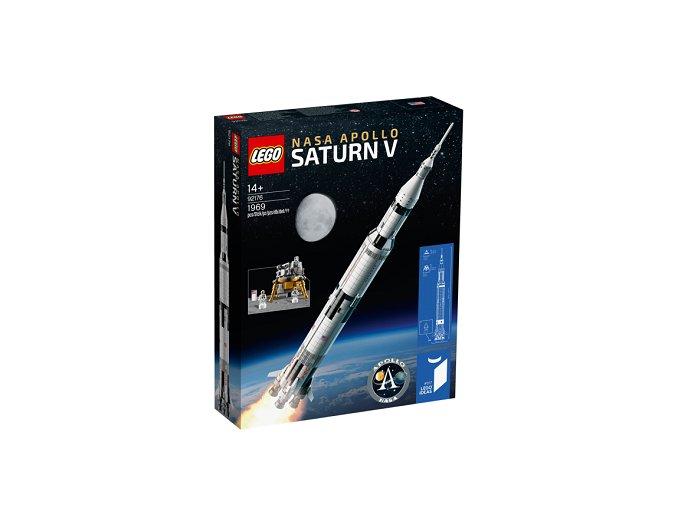 LEGO Ideas 92176 NASA Apollo Saturn V  + volná rodinná vstupenka do Muzea LEGA Tábor v hodnotě 370 Kč