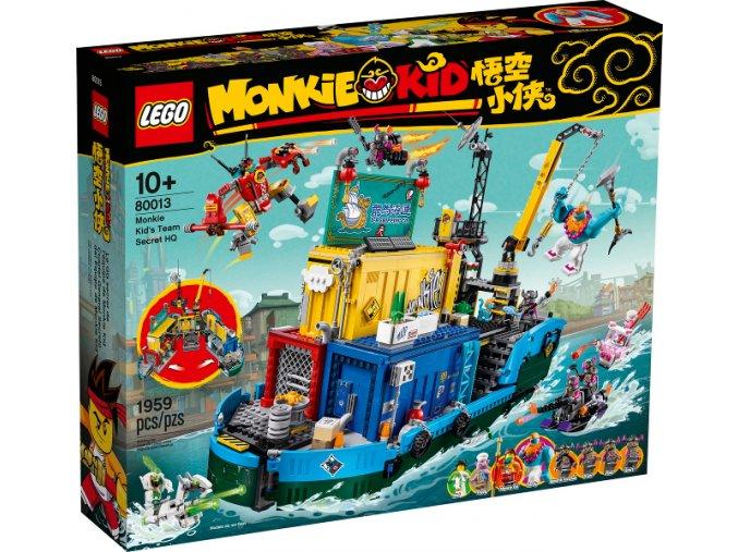 LEGO Monkie Kid 80013 Tajná základna týmu Monkie Kida  + volná rodinná vstupenka do Muzea LEGA Tábor v hodnotě 370 Kč