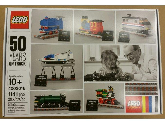 LEGO 4002016 50 Years On Track  + volná rodinná vstupenka do Muzea LEGA Tábor v hodnotě 370 Kč