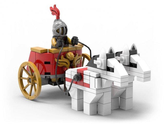 LEGO 5006293 Roman Chariot  + volná rodinná vstupenka do Muzea LEGA Tábor v hodnotě 370 Kč