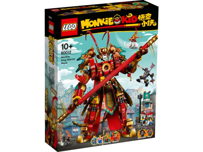 LEGO Monkie Kid 80012 Bojový robot Monkey Kinga  + volná rodinná vstupenka do Muzea LEGA Tábor v hodnotě 370 Kč