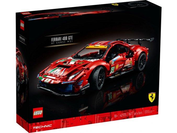 """Lego Technic 42125 Ferrari 488 GTE """"AF Corse #51""""  + volná rodinná vstupenka do Muzea LEGA Tábor v hodnotě 370 Kč"""