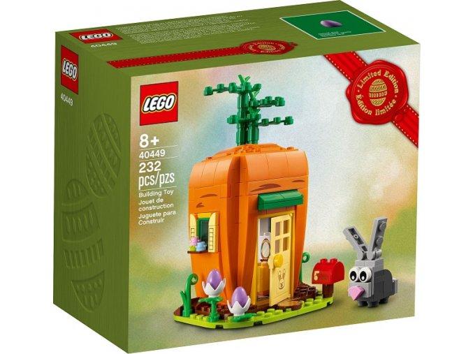 LEGO 40449 Velikonoční zajíček a mrkvičkový domeček