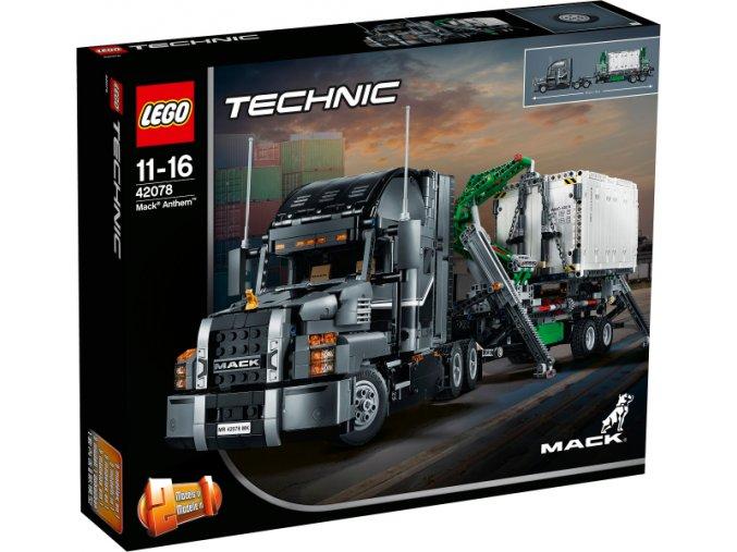 Lego TECHNIC 42078 Mack Anthem  + volná rodinná vstupenka do Muzea LEGA Tábor v hodnotě 370 Kč