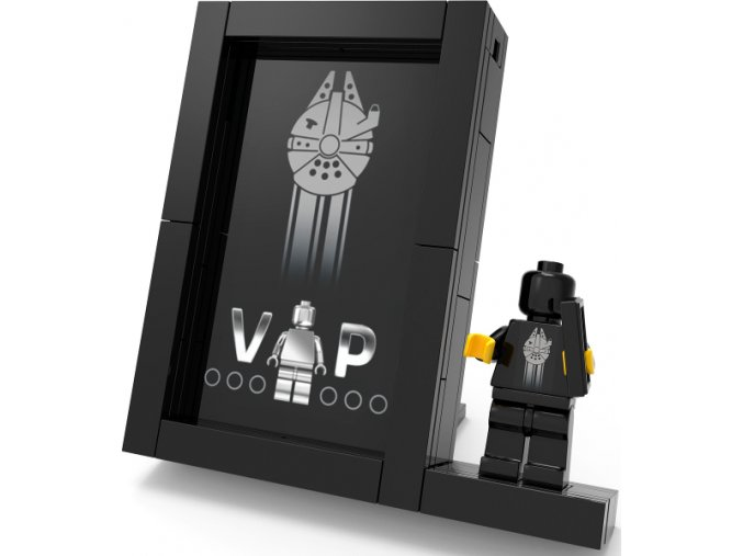 LEGO 5005747 Black VIP Frame (Card Display) polybag  + volná rodinná vstupenka do Muzea LEGA Tábor v hodnotě 370 Kč