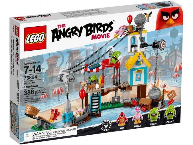 LEGO 75824 ANGRY BIRDS Bourání v Prasečím městě