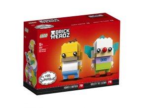 LEGO BrickHeadz 41632 Homer Simpson a Šáša Krusty
