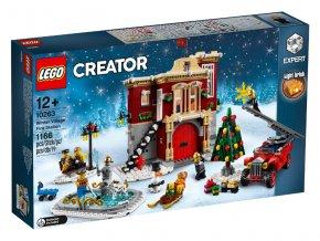 LEGO 10263 Hasičská stanice v zimní vesnici
