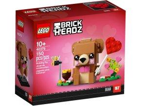 LEGO BrickHeadz 40379 Valentine's Bear (Valentýnský medvídek)