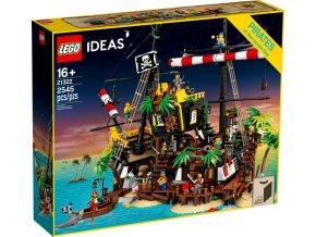 LEGO Ideas 21322 Zátoka pirátů z lodě Barakuda  + volná rodinná vstupenka do Muzea LEGA Tábor v hodnotě 370 Kč