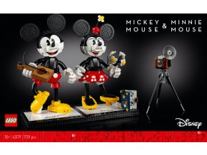 Lego Disney 43179 Myšák Mickey a Myška Minnie  + volná rodinná vstupenka do Muzea LEGA Tábor v hodnotě 370 Kč