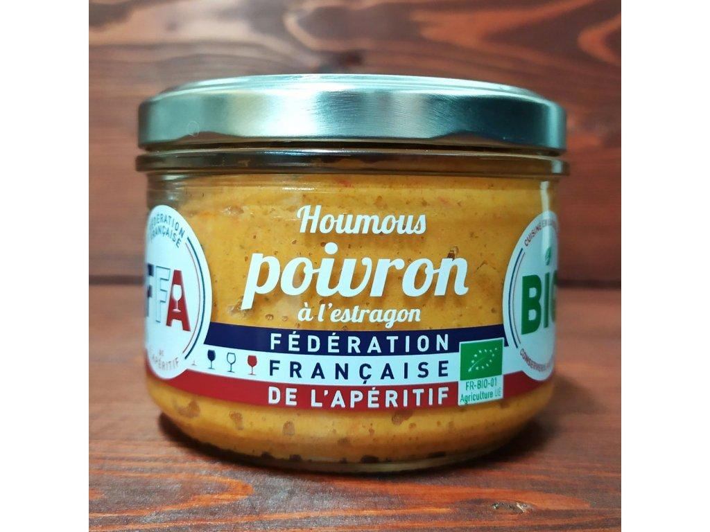 Paprikový hummus s estragonem BIO 200 g  HOUMOUS POIVRON À L'ESTRAGON BIO