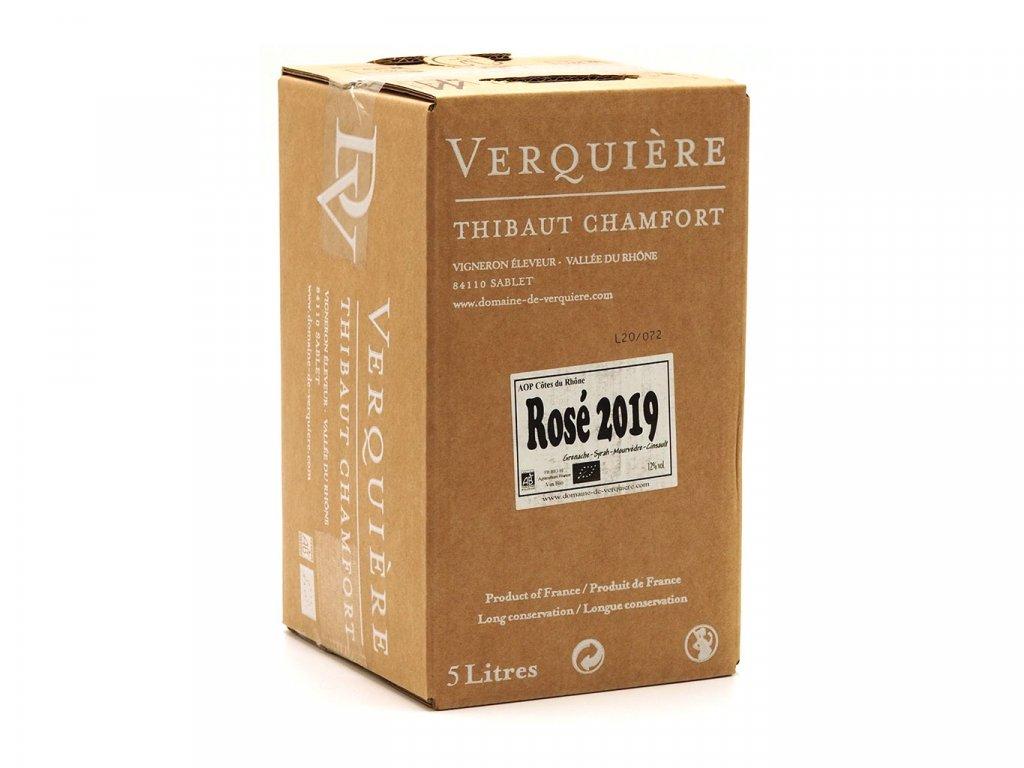 Domaine de Verquière Côtes du Rhône Rose (BiB 5L) 011