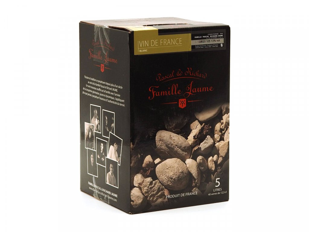 Domaine Jaume Vin de France Blanc  (BiB 5L) 017 bag-in-box bílé víno