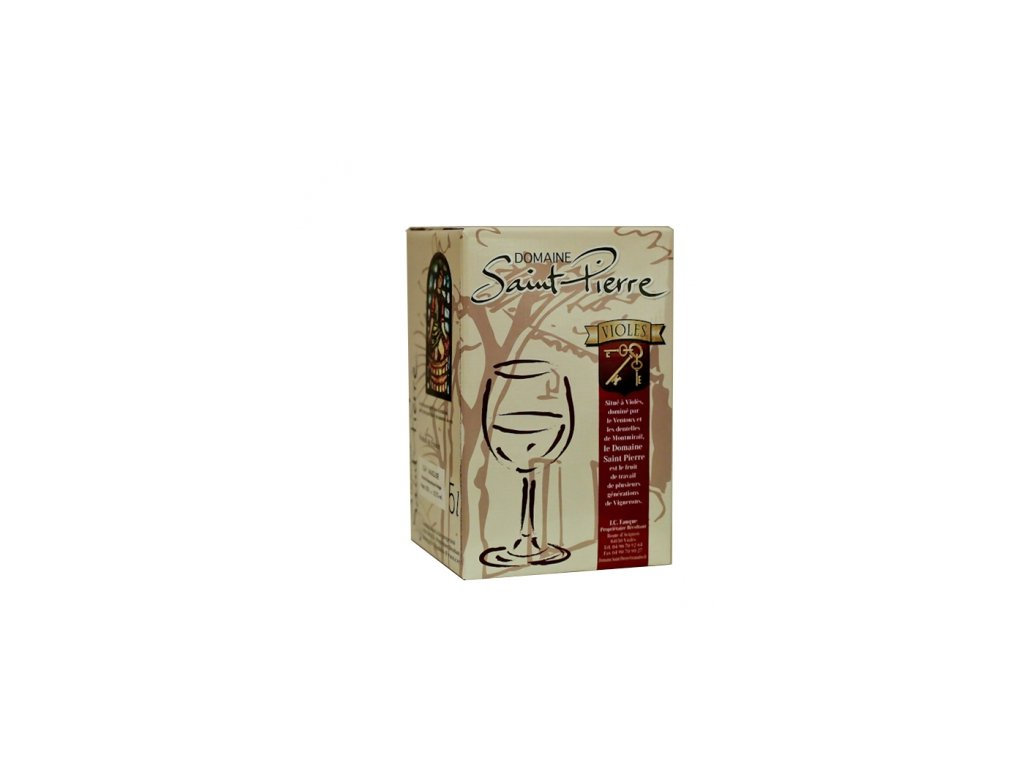 Domaine Saint Pierre I.G.P. Vaucluse Rosé (BiB 5L) 005 bag-in-box růžové víno