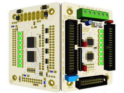 3D model DKE IOPE 16, vlevo zespodu, vpravo ze shora (rotováno 30°)