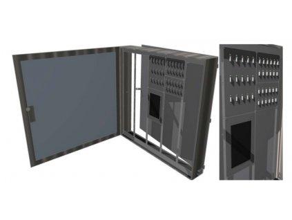 Nástěnná varianta KC systému ESSKEY pro velké množství KSA