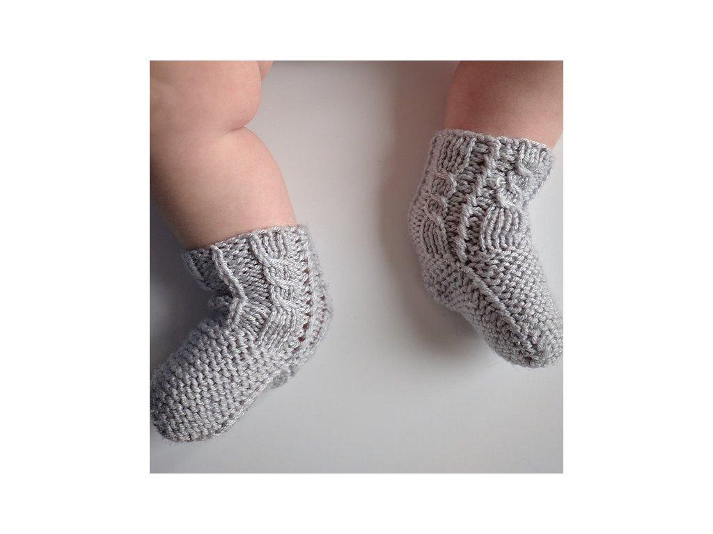 pletené šedé
