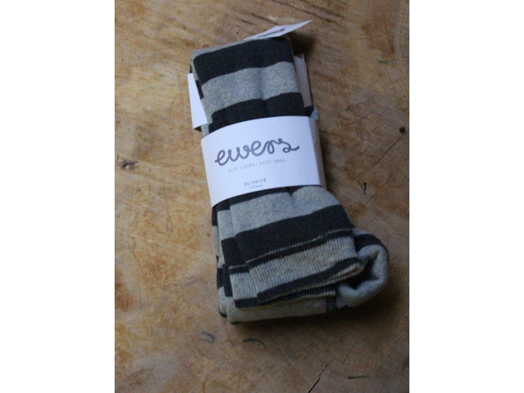 punčochové legíny EWERS šedý proužek