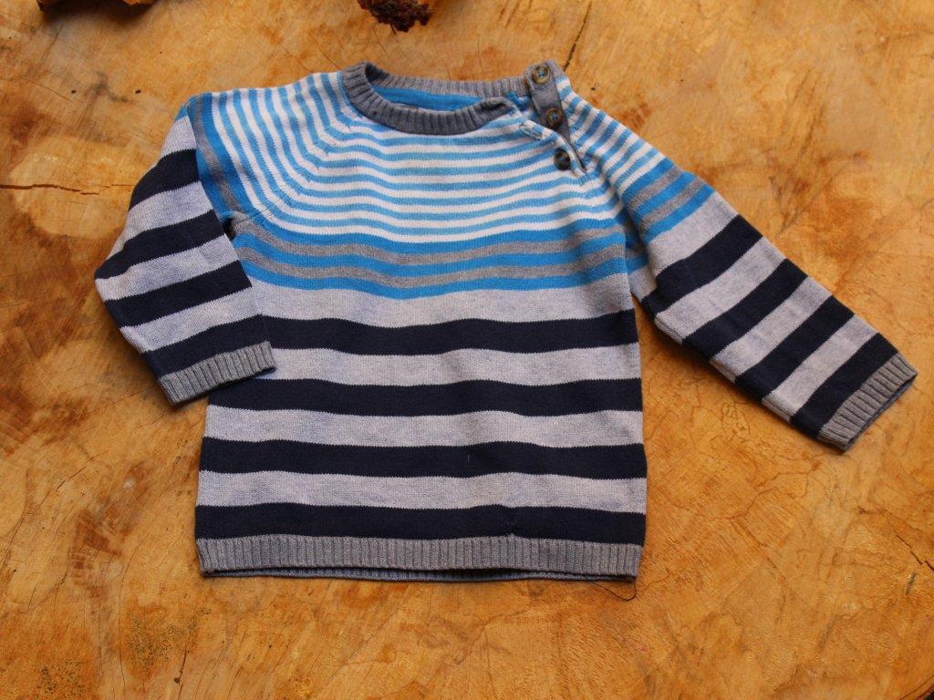 proužkovaný svetr s knoflíky H&M 86