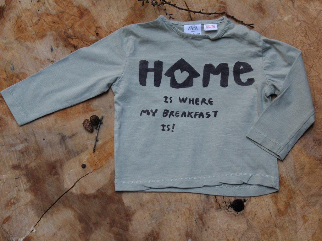 tričko khaki Zara Baby 80