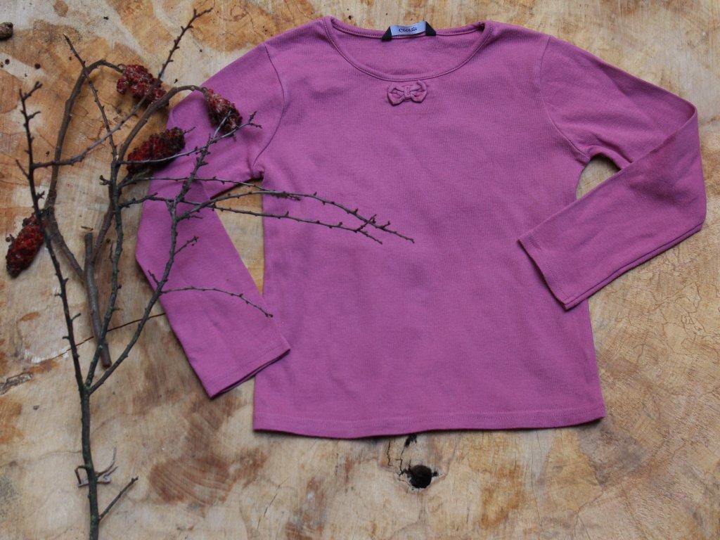 tričko fialové s dlouhým rukávem George 5-6Y