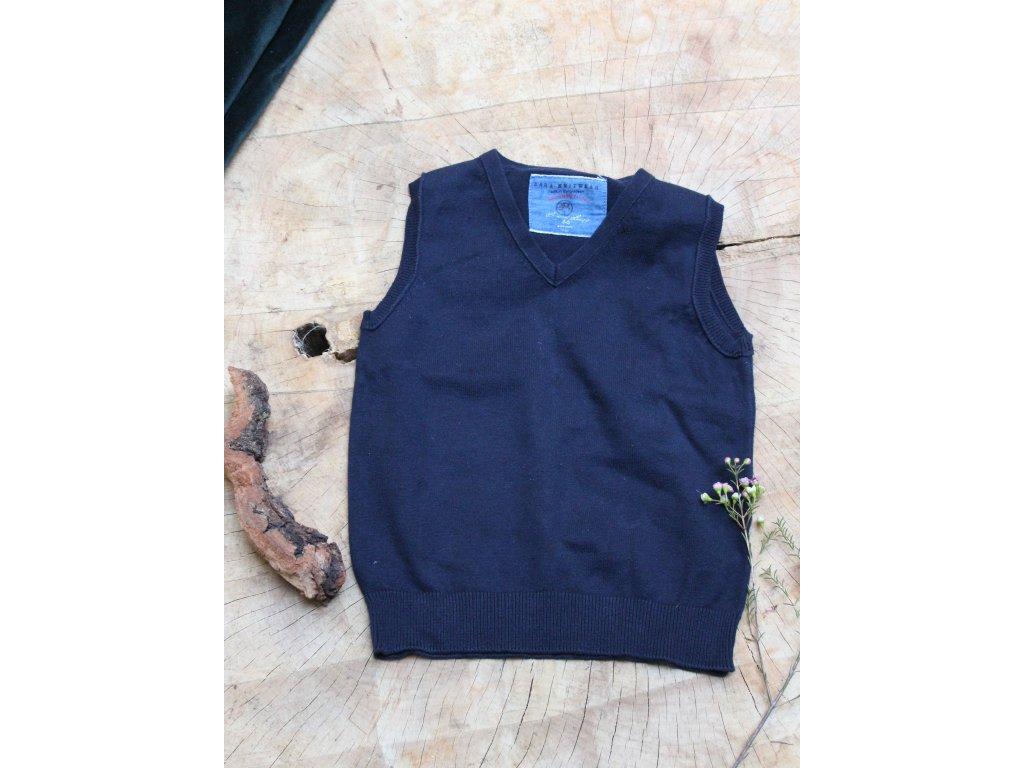 tmavě modrá vesta Zara 4-5Y