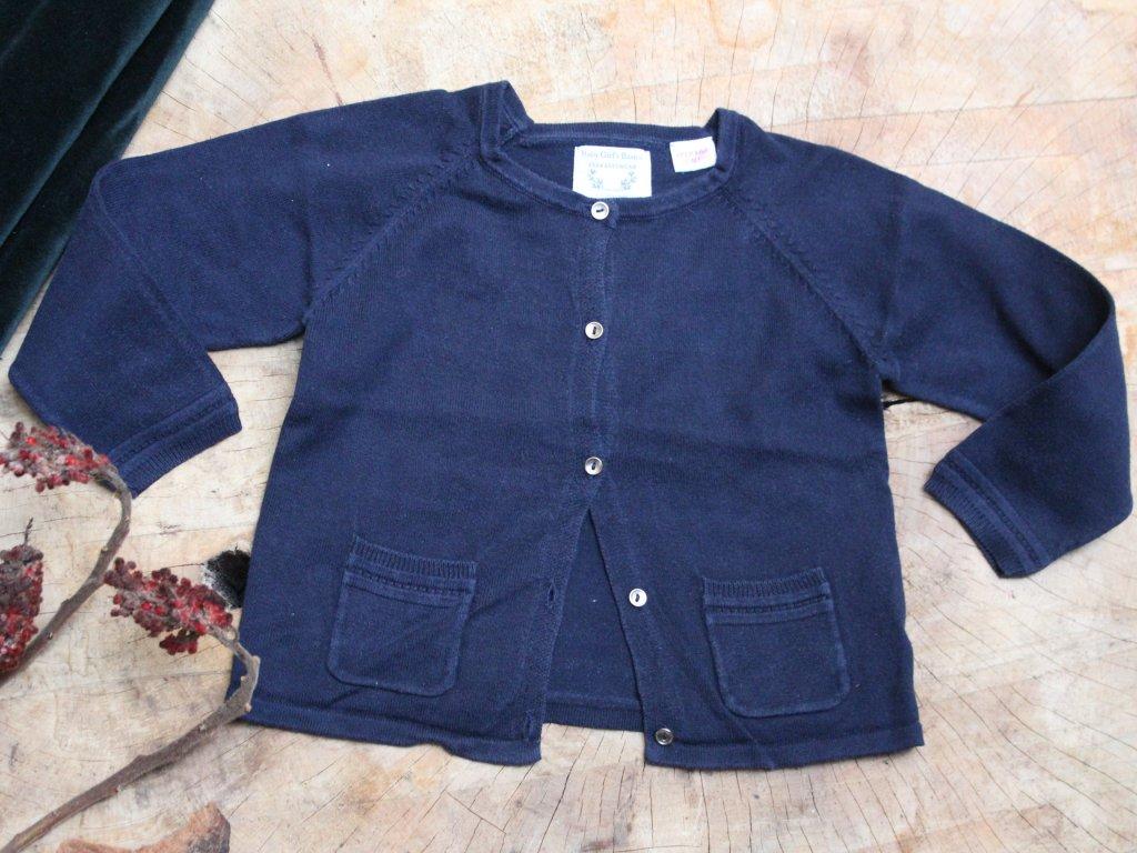 tmavě modrý propínací svetřík Zara 2-3Y