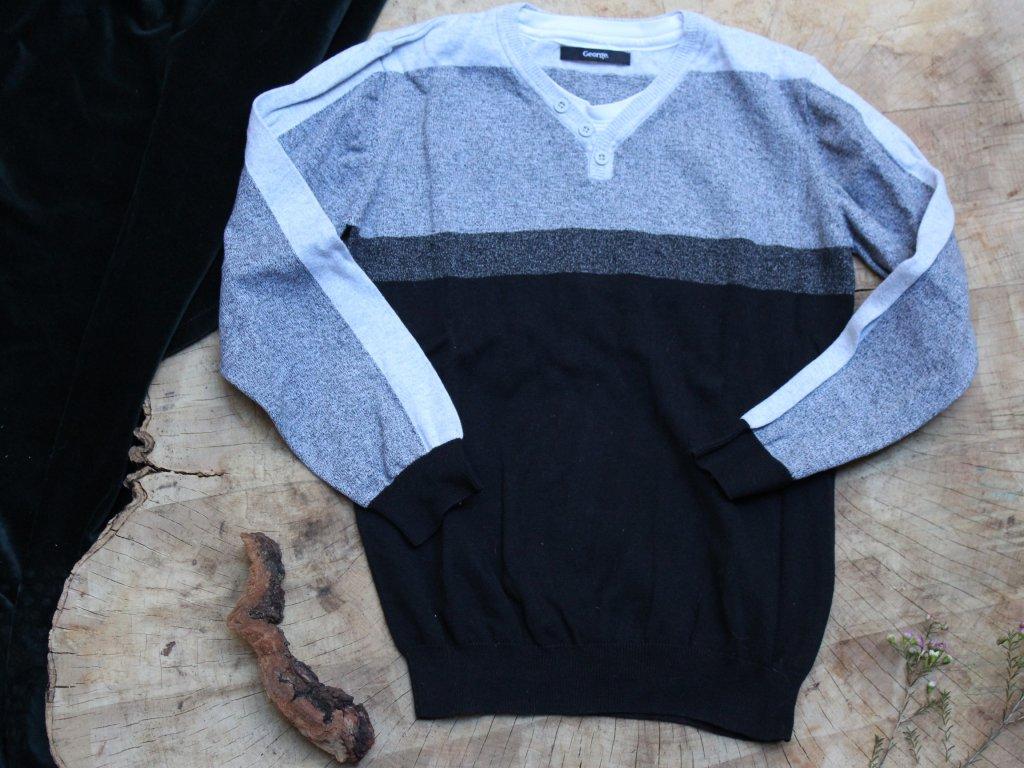 černo-šedý svetr George 10-11Y