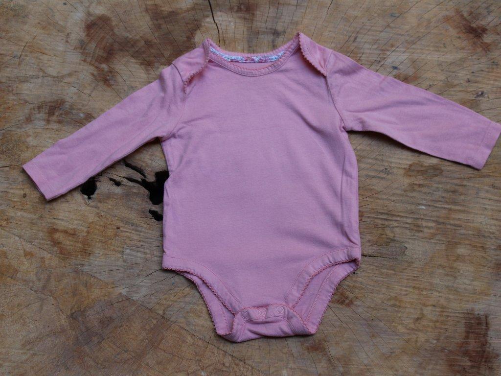 body růžové Mothercare 74