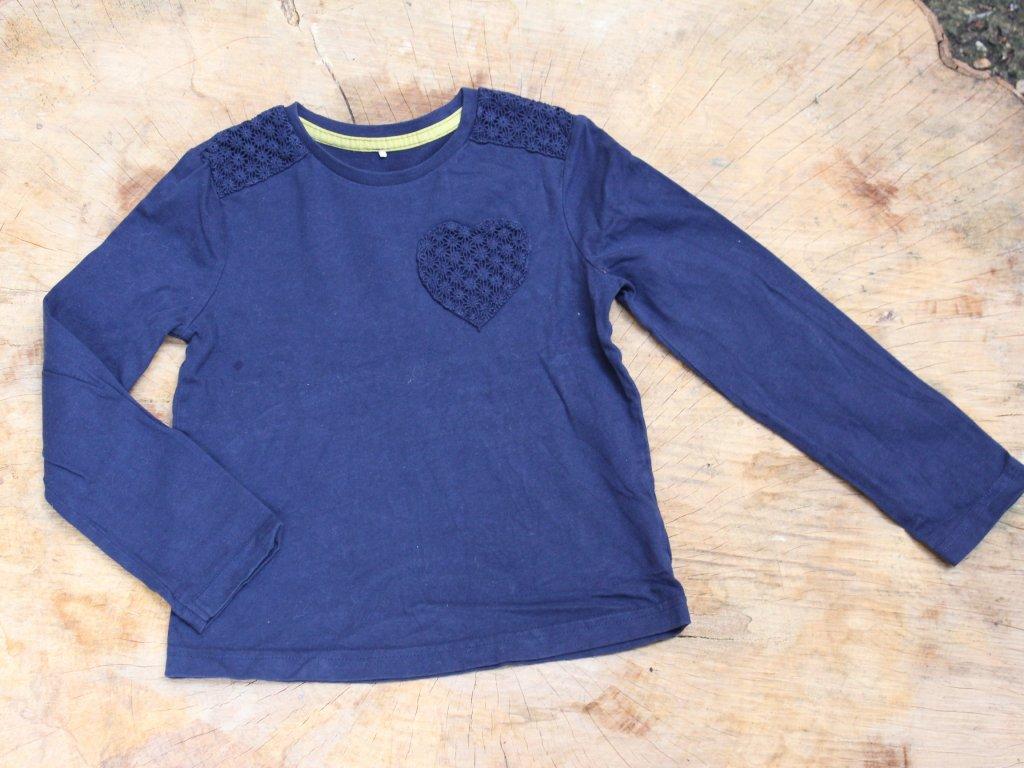 modré tričko s dlouhým rukávem George 5-6Y
