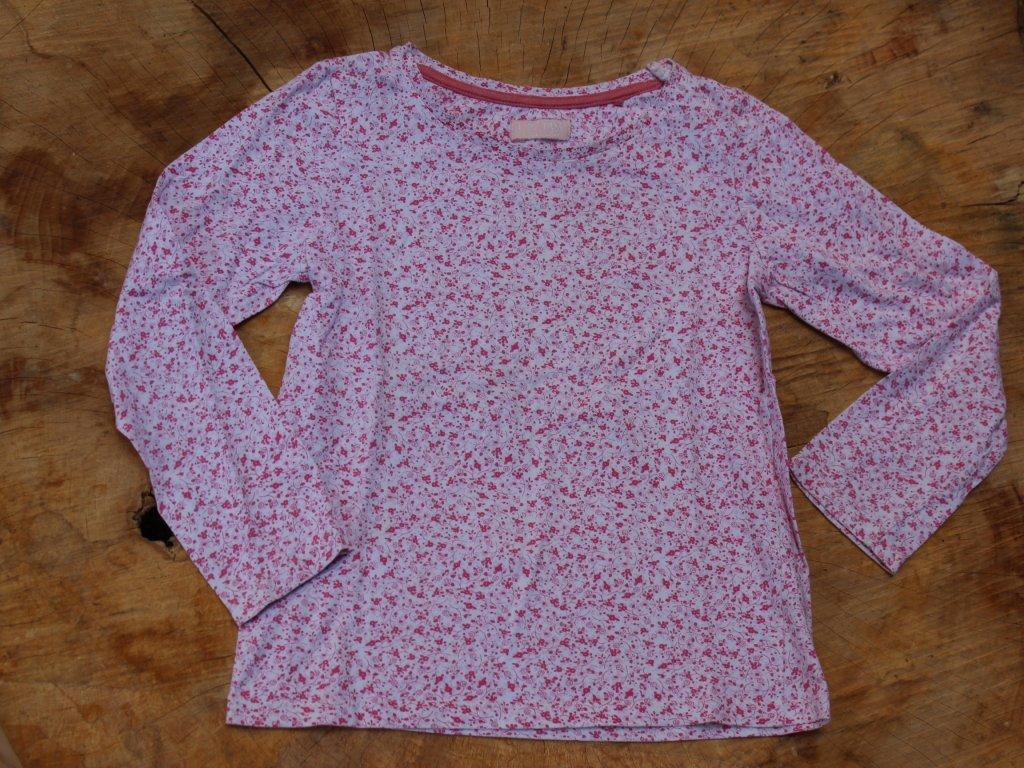 růžové květinové tričko s dlouhým rukávem Next 122